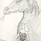 Girl and Dragon by Stephanie Small