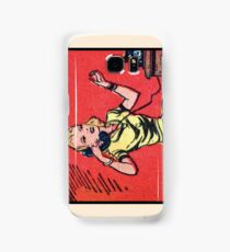 Woman on Classic Telephone (alternate layout A) Samsung Galaxy Case/Skin