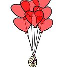 Heart Balloons by cozyreverie