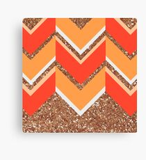 Spicy Chevron Canvas Print