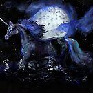 Unicorn Beneath Moon by Stephanie Small