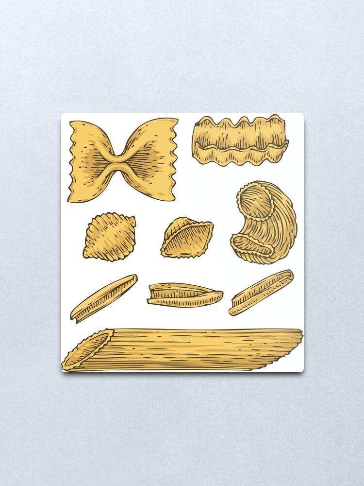 Alternate view of Pasta Metal Print