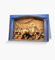 Saint Gaudens' The Shaw Memorial Marches On Greeting Card