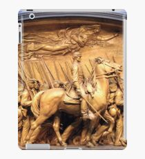 Saint Gaudens' The Shaw Memorial Marches On iPad Case/Skin