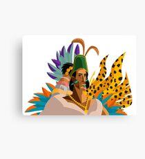 great aztec emperor Canvas Print