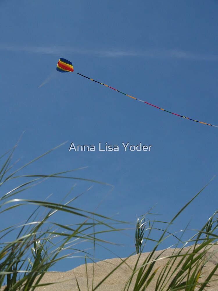Kite over Dunes; Ocean Grove, NJ by Anna Lisa Yoder
