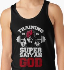 training to super saiyan god workout stronger gym fit power energy character T-Shirt