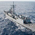 Die Lenkwaffen-Fregatte USS Reuben James. von StocktrekImages