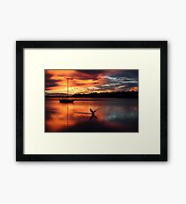 St Helens sunrise 9 July 2017 Framed Print
