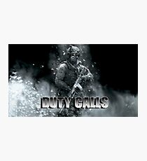 Duty Calls Photographic Print
