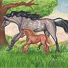 Horse and Pony by Stephanie Small