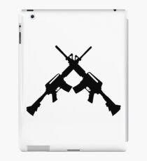 Machine Guns Crossed, Silhouette iPad Case/Skin
