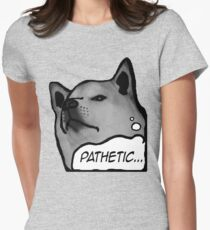 "Shiba Inu - ""Pathetic..."" Women's Fitted T-Shirt"