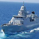 Das niederländische Schiff HNLMS De Zeven Provincien durchquert den Atlantik. von StocktrekImages