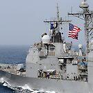 Ticonderoga-Klasse Lenkwaffenkreuzer USS Chancellorsville. von StocktrekImages