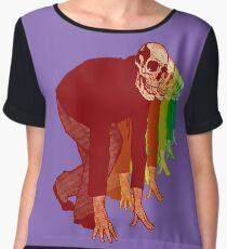 Racing Rainbow Skeletons Chiffon Top