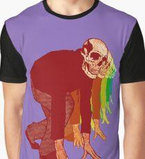 Racing Rainbow Skeletons Graphic T-Shirt