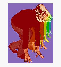 Racing Rainbow Skeletons Photographic Print