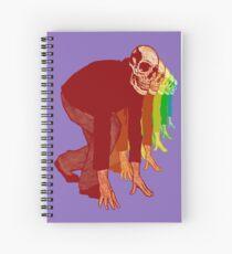 Racing Rainbow Skeletons Spiral Notebook
