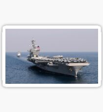 USS Carl Vinson and USS Bunker Hill transit the Pacific Ocean. Sticker