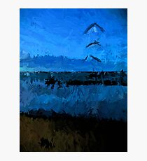 Blue Sea in the Blue Wind Photographic Print