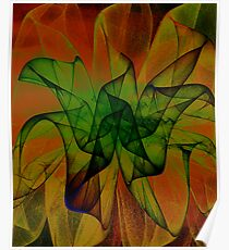 Flame Floral Poster