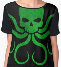 Hail Hydra! - Green Chiffon Top