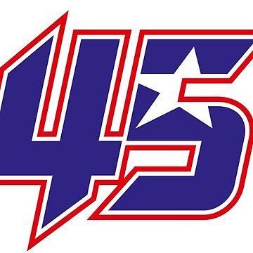 #45 Scott Redding - MotoGP Rider Number by xEver