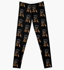 Cute Female Rottweiler Puppy Running Leggings