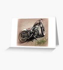 Raw Steel Greeting Card