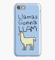 Llamas Gonna Llam iPhone Case/Skin