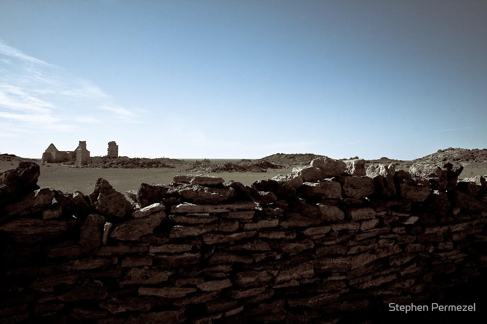 Strangways Ruins - South Australia by Stephen Permezel