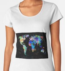 world map Women's Premium T-Shirt