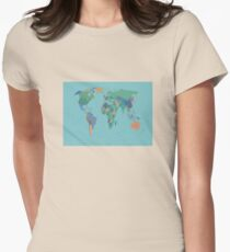 world map Women's Fitted T-Shirt