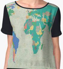world map Chiffon Top