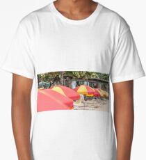 Waikiki Umbrellas Long T-Shirt