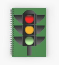 Traffic Lights Spiral Notebook