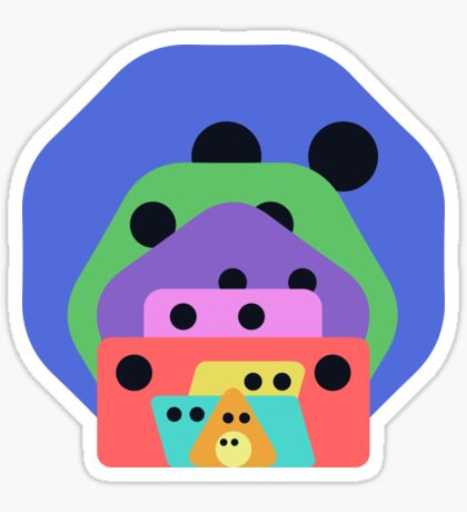 Cute Shapes Family Sticker