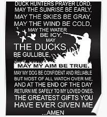 Ducks Hunter Prayer Lord T Shirt Poster