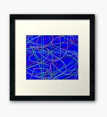 Photon Trails Framed Print