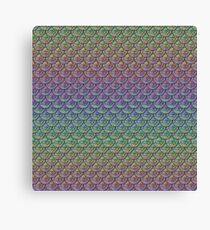 Rainbow Mermaid Scales Canvas Print