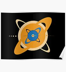 Solar System To Scale - Concentric Poster
