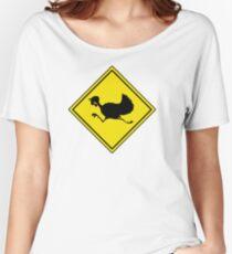 turkey crossing street humor funny parody joke Women's Relaxed Fit T-Shirt