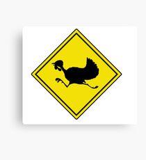turkey crossing street humor funny parody joke Canvas Print