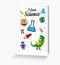 I Love Science (black version) Greeting Card