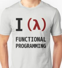 I Love Functional Programming - Black/Maroon Design Unisex T-Shirt