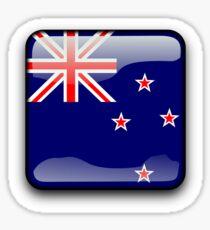 New Zealand Flag Icon Sticker