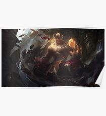 League of legends-god fist lee sin Poster