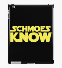 Schmoes Know funny parody joke humor movie tv show cartoon iPad Case/Skin