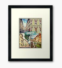 Annecy - Urban Montage 5 Framed Print